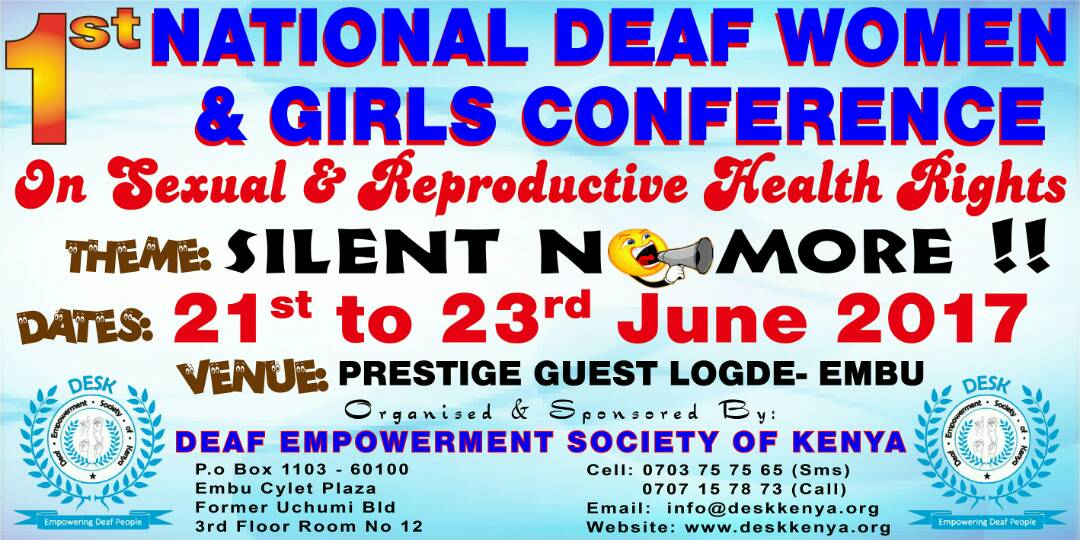 National Deaf Women and Girls Conference Poster